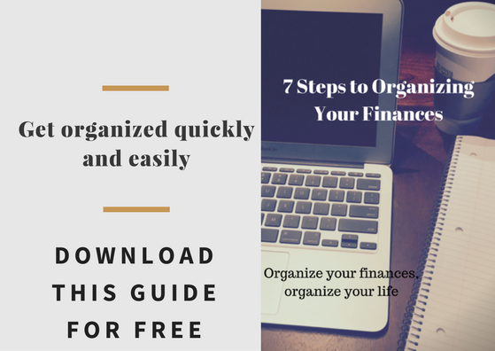 7 steps to organizing finances cta
