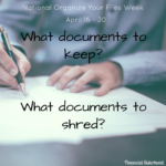 Organize Your Files Week: What Documents to Keep