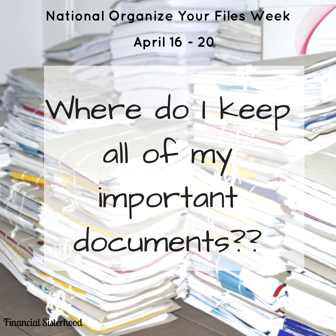 Organize Your Files Week: Where to Keep Your Files
